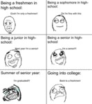 Being A Freshman In High School