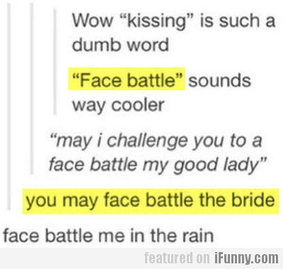 """Wow, """"kissing"""" is such a dumb word"""