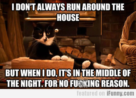 I Don't Always Run Around The House...