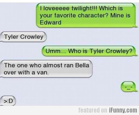 I love twilight! Which is your favourite character
