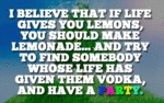 I Believe That If Life Gives You Lemons...