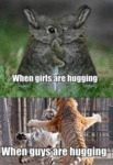 When Girls Are Hugging