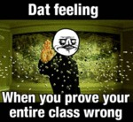 Dat Feeling, When You Prove Your Entire Class...