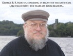 George R.r. Martin, Standing In Front Of His...