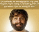 Zach Galifianakis Was Approached By Nike To Be..