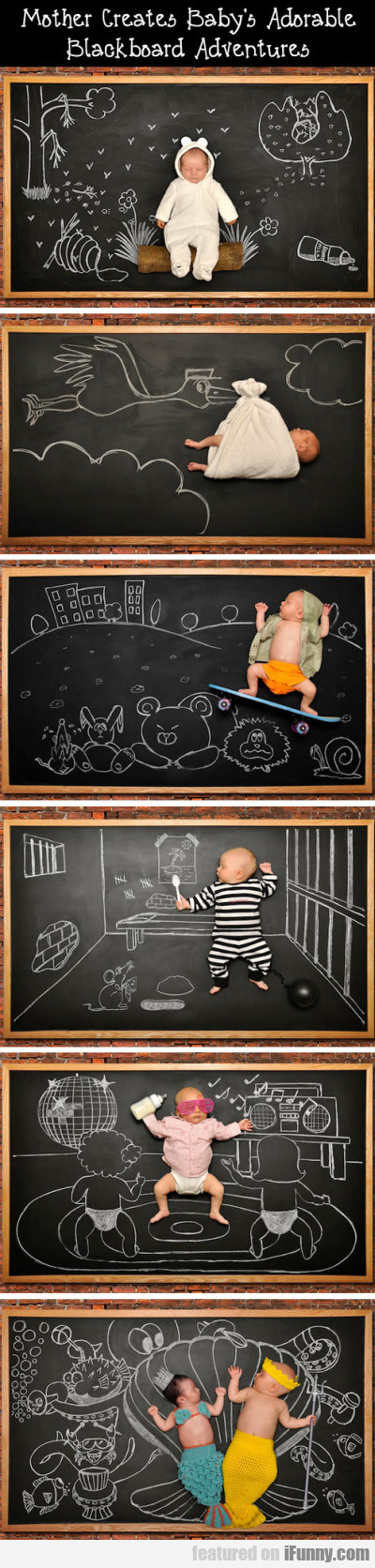 Mother creates baby's adorable blackboard..