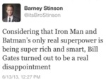 Considering That Iron Man And Batman..