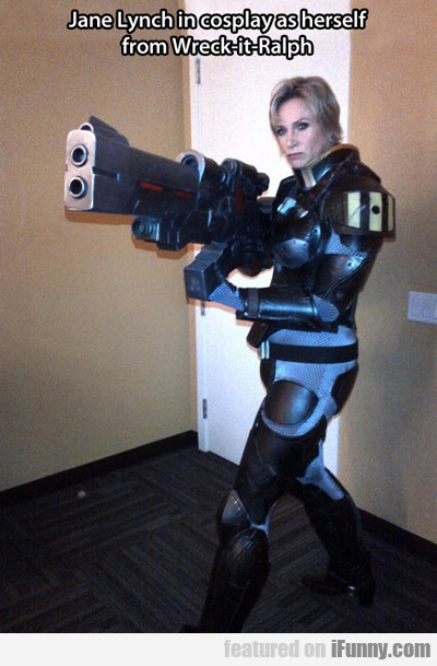 Jane Lynch In Cosplay As Herself...