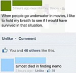 When People Go Underwater In The Movies..