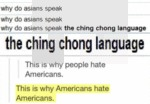 Why Do Asians Speak...