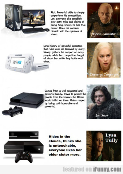 game of consoles...