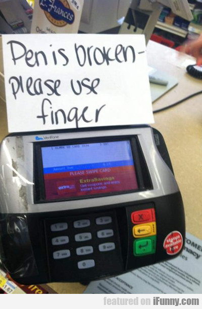 Penis Broken - Please Use Finger