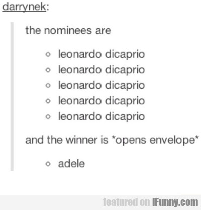 The Nominees Are...
