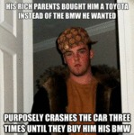 His Rich Parents Bought Him A Toyota...