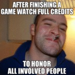 After Finishing A Game Watch Full Credits