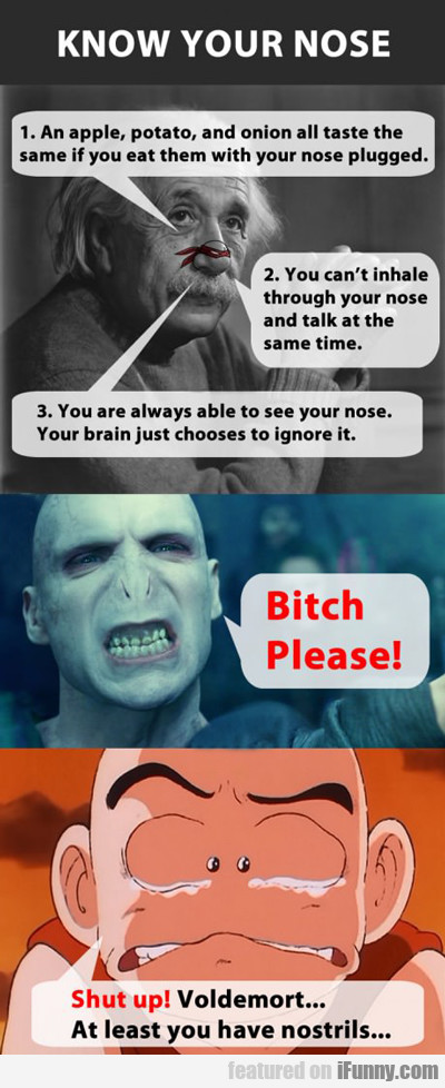 know your nose...