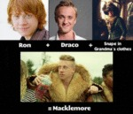Ron + Draco + Snape In Gramdma's Clothes...