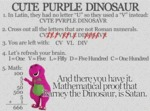 Cute Purple Dinosaur...