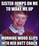 Sister Jumps On Me To Wake Me Up...