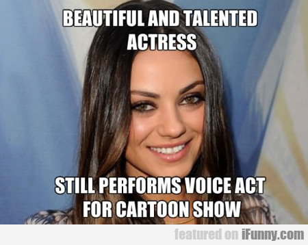 Beautiful And Talented Actress...