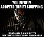 You Merely Adopted Thrift Shopping...
