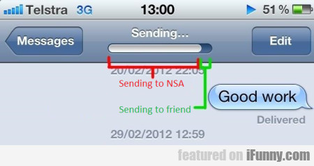 Sending to NSA and to friend