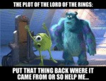 The Plot Of The Lord Of The Rings...