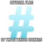 Official Flag Of The Attention Seekers