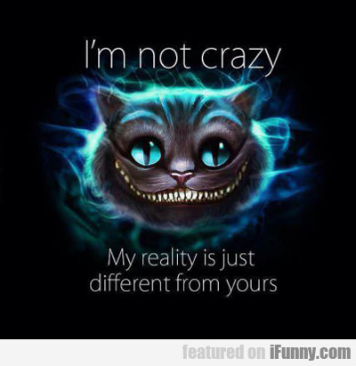 I'm Not Crazy, My Reality Is Just Different...