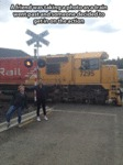 An Friend Was Taking A Photo As A Train...