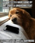 Ten Minutes Have Gone By Without A Smoochie Text