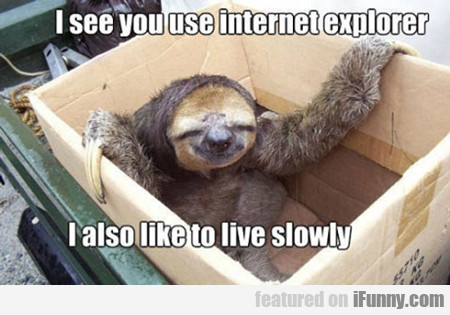 I See You Use Internet Explorer...