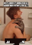 He Thought It Would Be An Easier Way To Bath The..