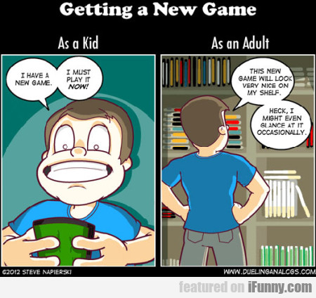 Getting A New Game As A Kid And As A Adult