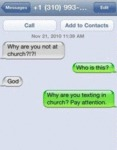 Why Are You Not At Church ?!
