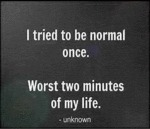 I Tried To Be Normal Once...