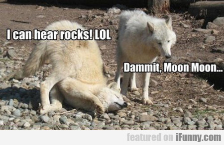 I can hear rocks! LOL!
