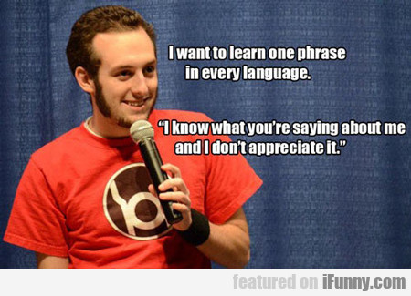 i want to learn one phrase in every language...