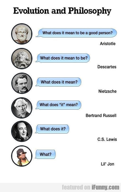 Evolution And Philosophy...