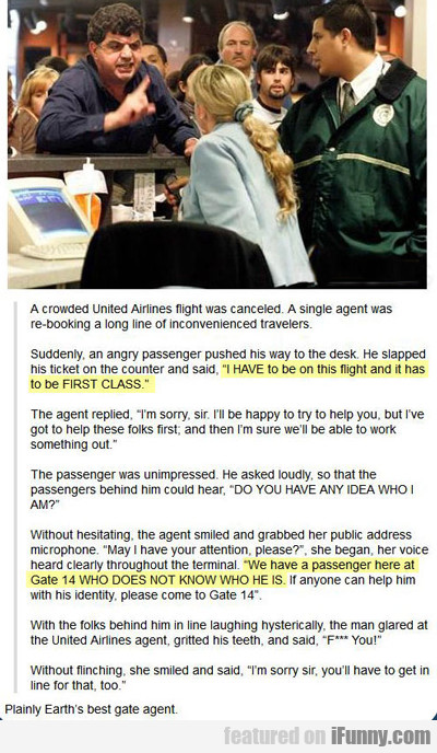 A Crowded United Airlines Flight Was Canceled...