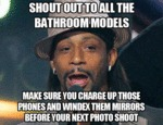 Shout Out To All The Bathroom Models...
