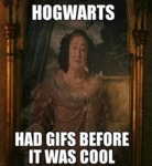 Hogwarts Had Gifs Before It Was Cool...