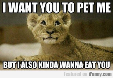 I Want You To Pet Me, But I Also Kind Of Want...