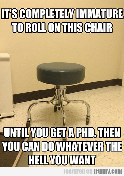 It's Completely Immature To Roll On This Chair...