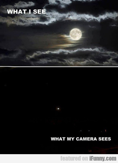 What I See Vs What My Camera Sees...