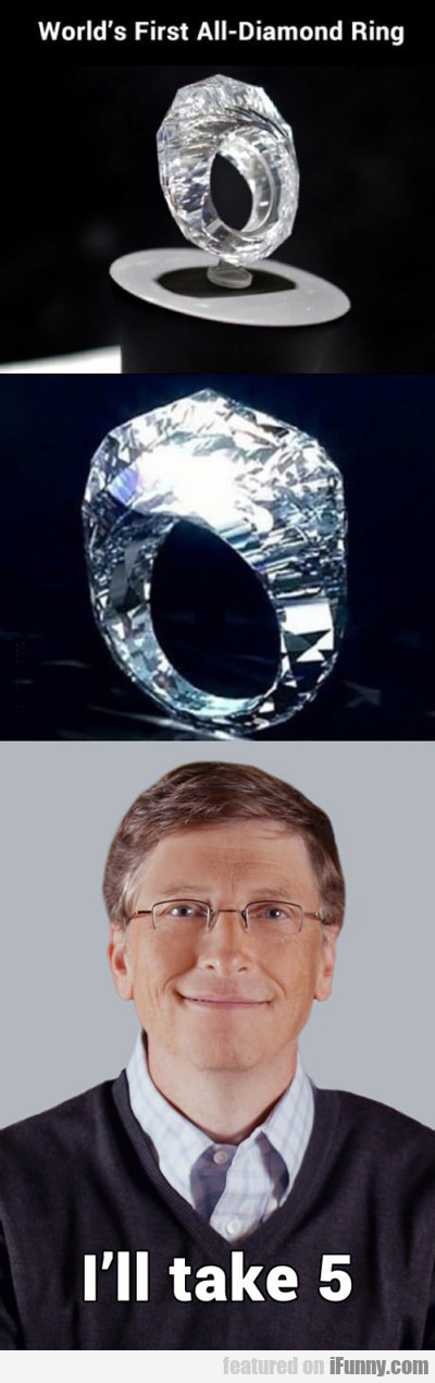 World's First All Diamond Ring