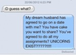 Guess What? My Dream Husband Has Agreed To..