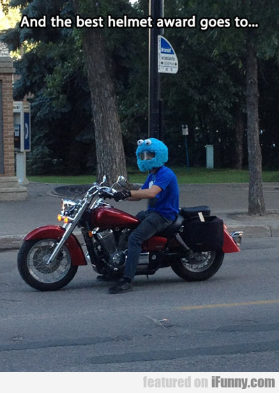 and the best helmet award gores to...