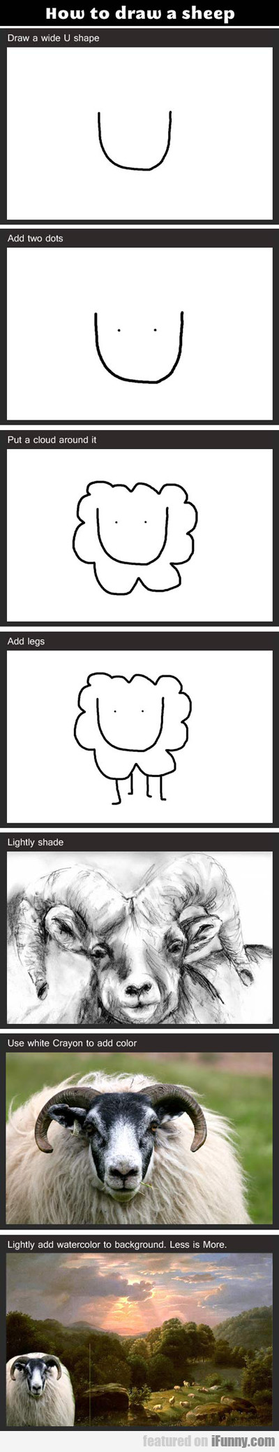 how to draw a sheep...