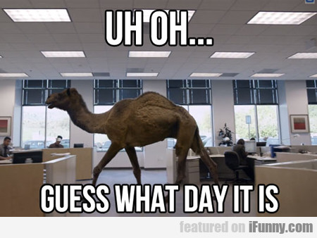 Uh Oh, Guess What Day It Is...